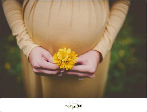yellow flower baby bump