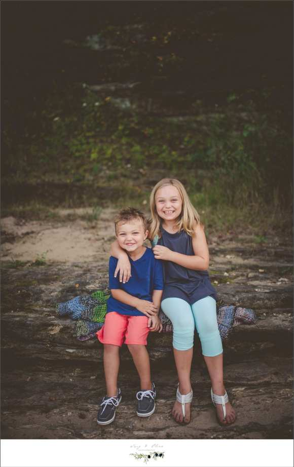 brother and sister family session