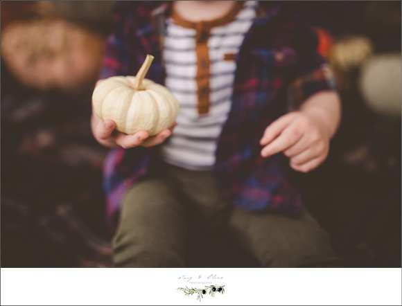 white pumpkin and flannel shirt
