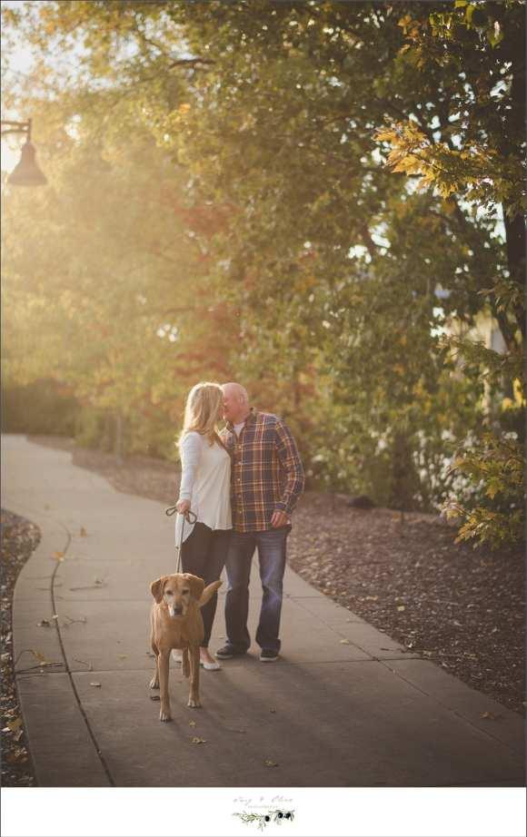 couple and dog