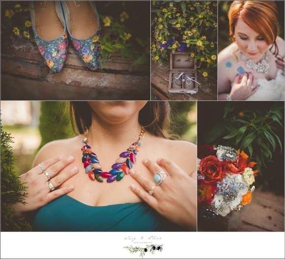 jewel tone wedding details