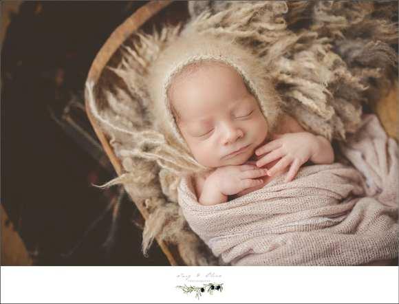 cream bonnet fluffy blanket