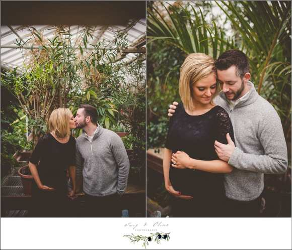 greenhouse maternity session