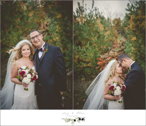 fall michigan wedding in vineyard