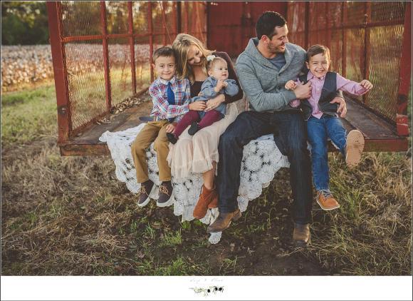 cotton farm family photography session