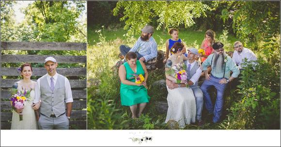 eclectic wedding party