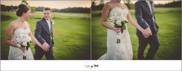 sunset wedding pose