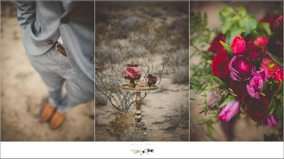 desert wedding details