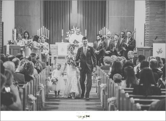 recessional wedding picture