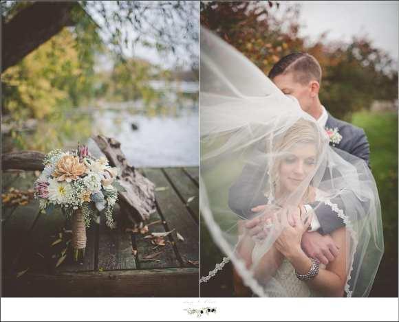 wedding portraits with veil