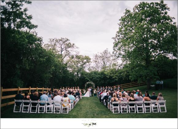 ceremony at rustic manor