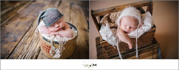 Rustic Wisconsin Newborn Photography Session