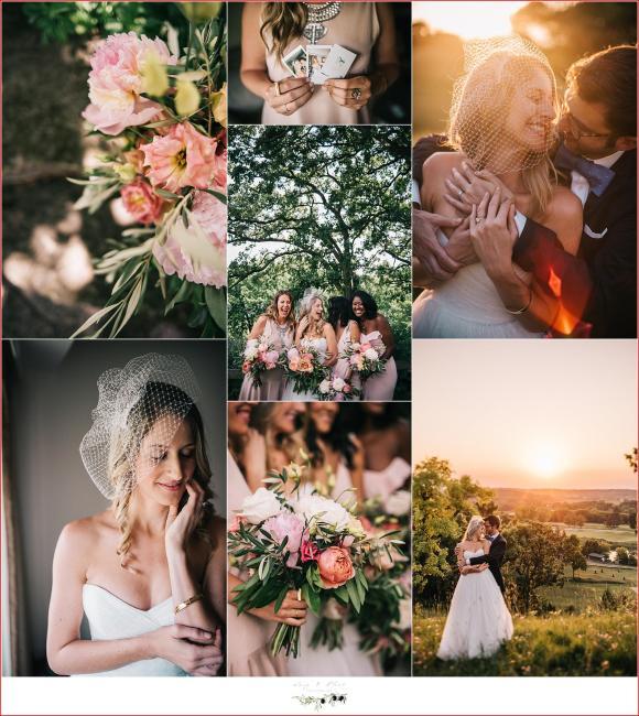 blush pink boho wedding