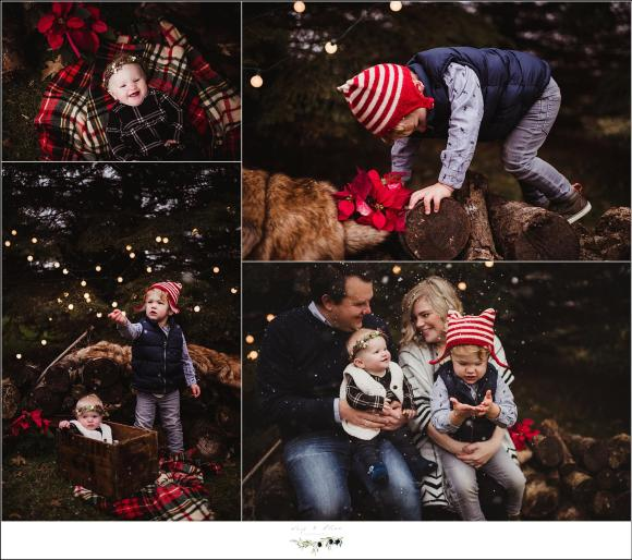 Snow and lights Family Session