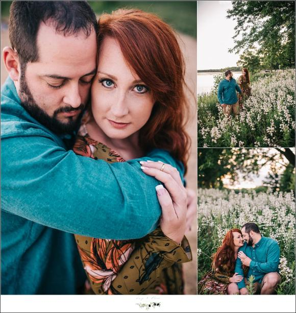 Flower field engagement session