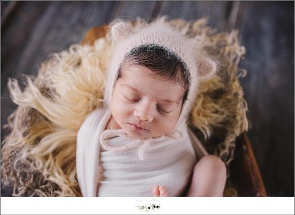 Fuzzy Bear Hat Baby Girl