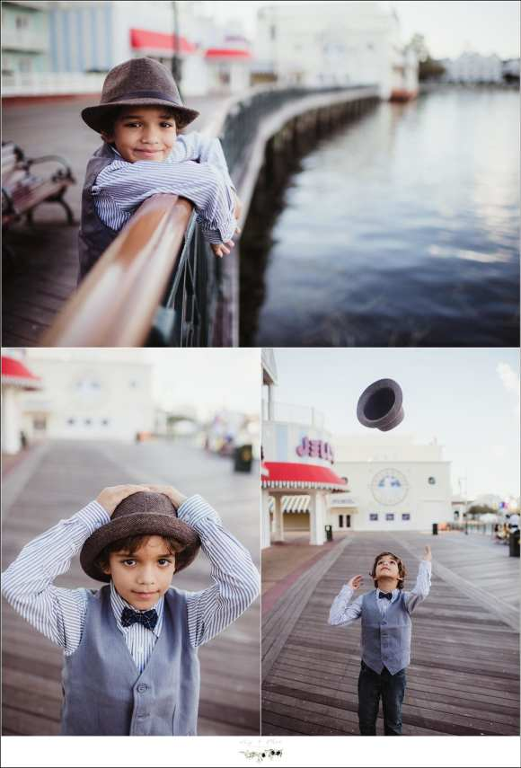 Boardwalk at Disney Family Photography Session