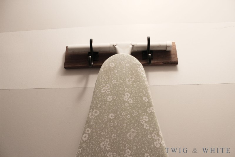 DIY Ironing Board Hanger for the Laundry Room