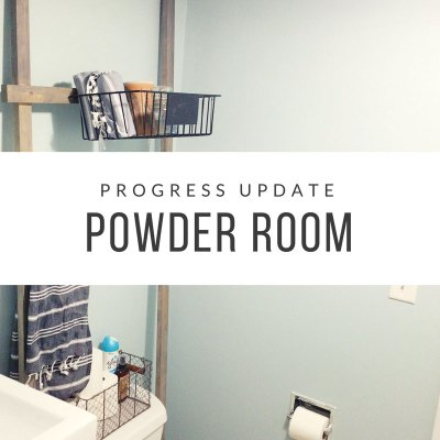 Bathroom Progress – Powder Room