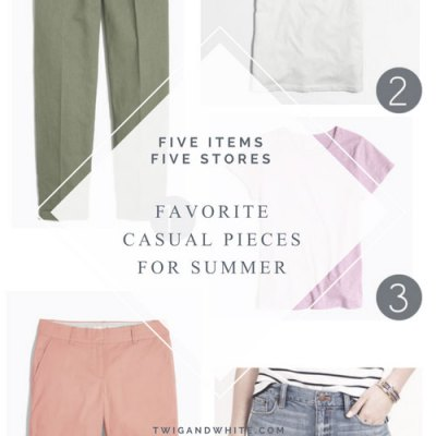 5 Items, 5 Stores: Favorite Casual Summer Pieces Right Now