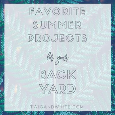 Favorite Summer Projects for your Back Yard