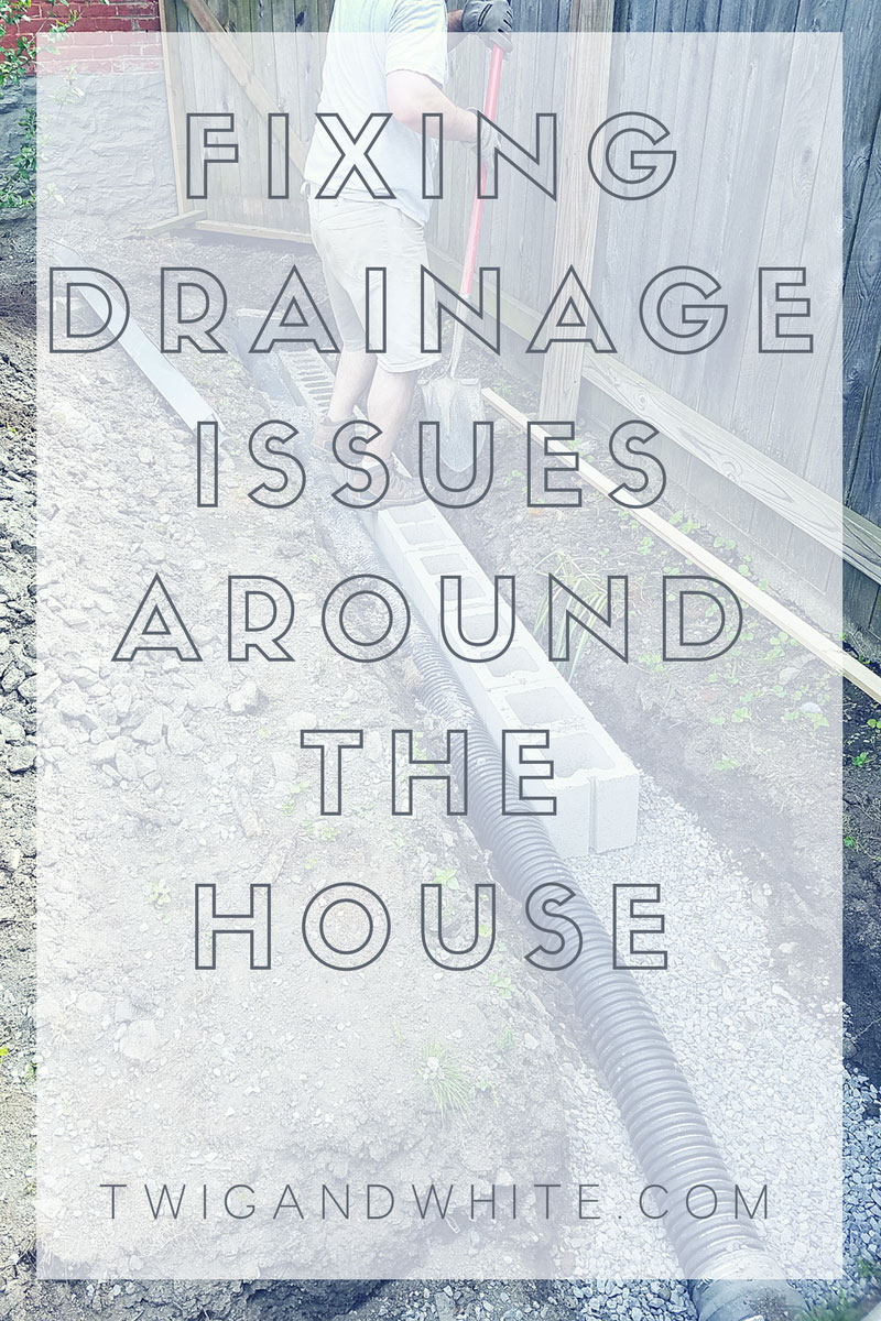 fixing drainage issues around your home's foundation