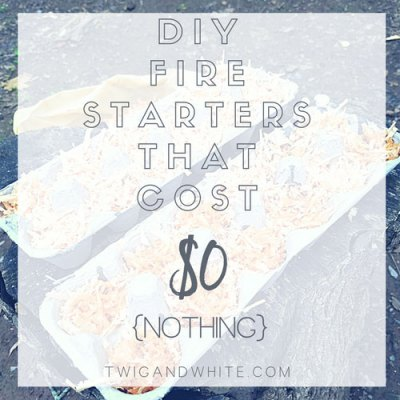 Cheap and Easy DIY Campfire Fire Starters