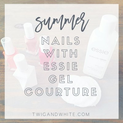 summer nails with essie
