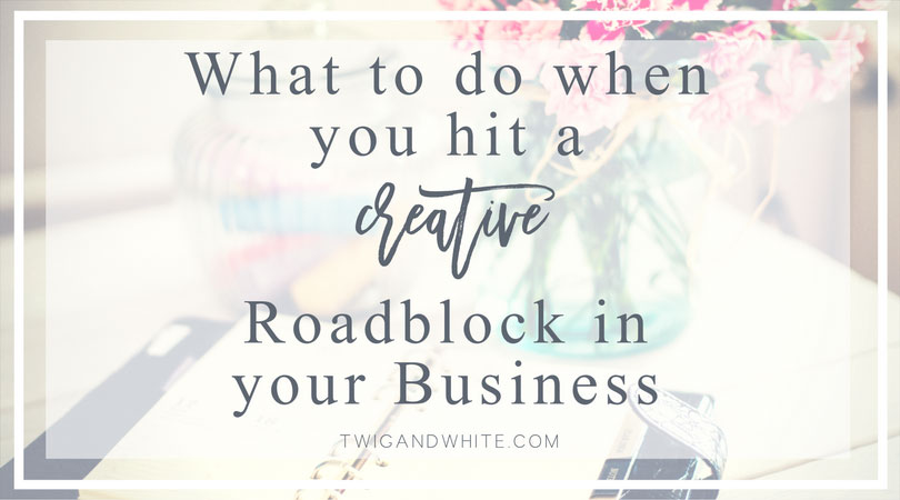 how to cure creative road block