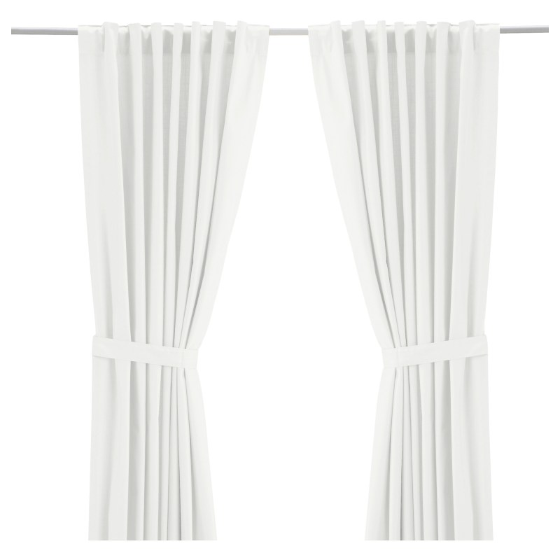 ikea white budget friendly curtains