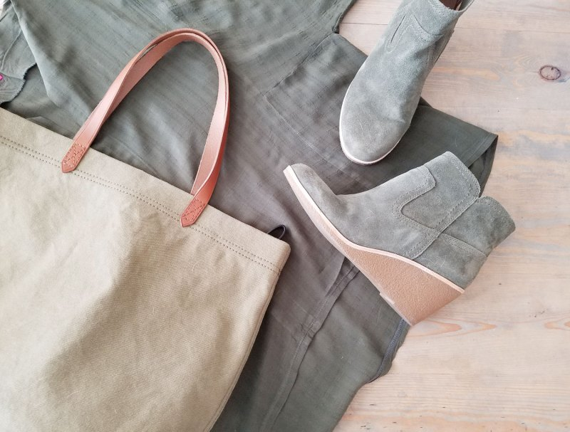 olive green clothing and accessories