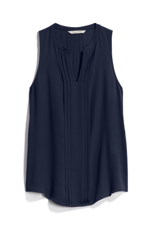 stitch fix navy pleated detail blouse