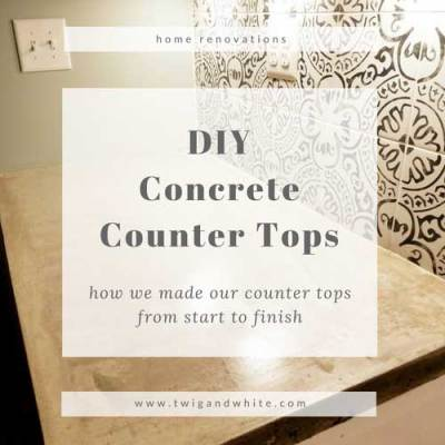 DIY Concrete Counter Tops for Modern Farmhouse Kitchen
