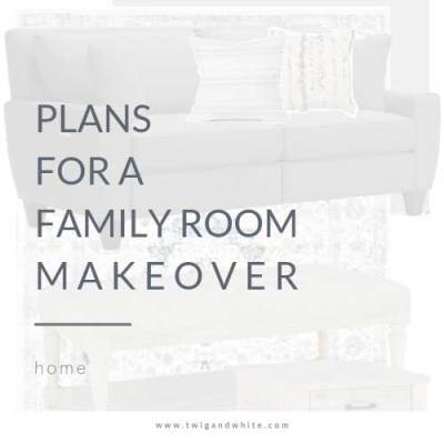 Plans for the Family Room Makeover