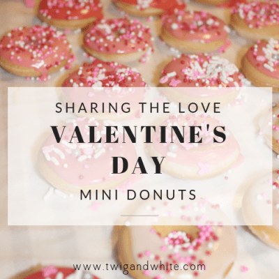 Share the Love – Baked Mini Valentine's Day Donuts for those you Love