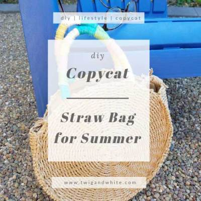 DIY Copycat Straw Bag