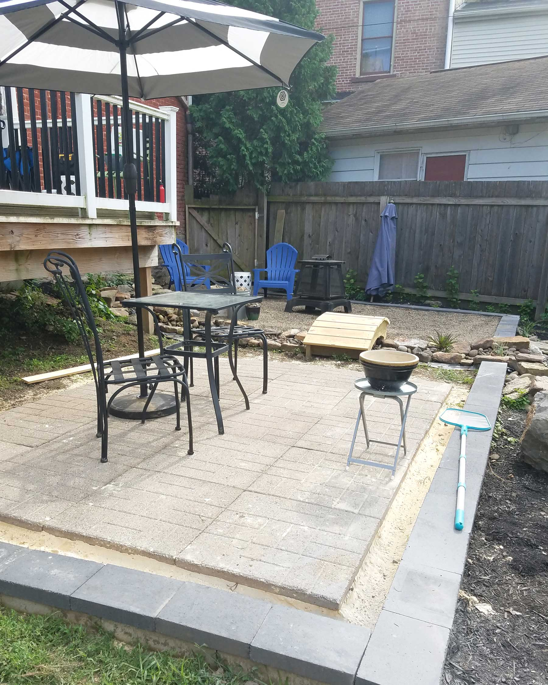 backyard progress patio update