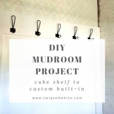 Mudroom Progress – Cube Shelf to Custom Built-in