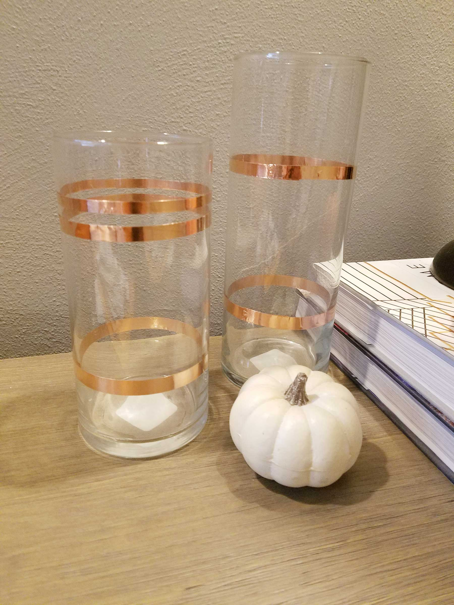 fall decor with copper details