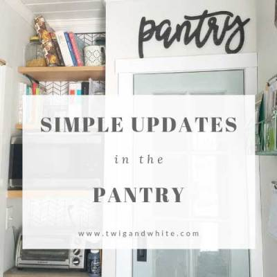 A Couple of Simple Updates to the Pantry