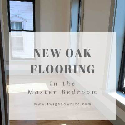 New Oak Flooring in Master Bedroom