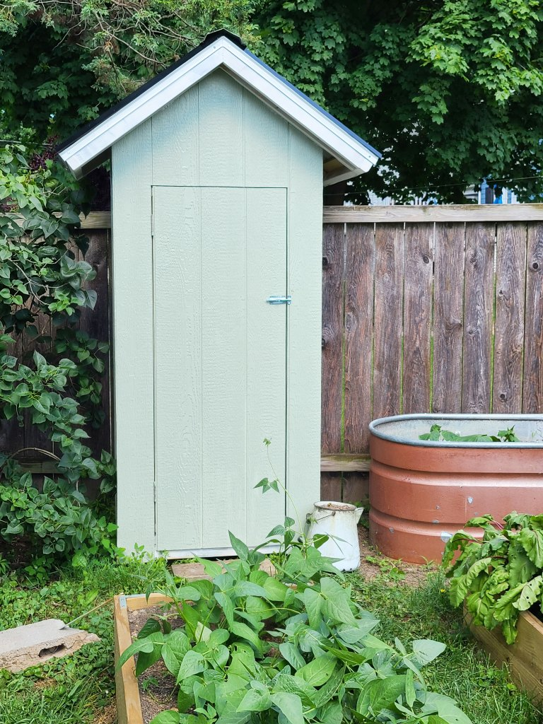 my DIY small garden shed