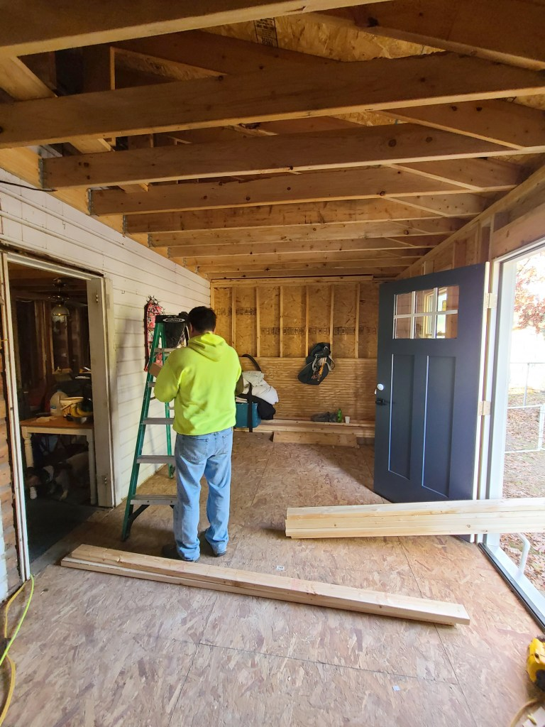 framing in the coastal cottage