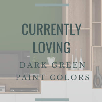 Currently Loving:  Deep Green