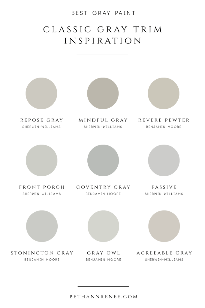 gray trim paint