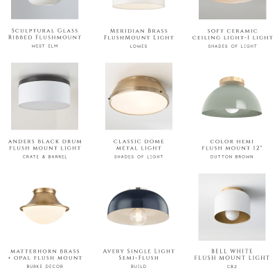 Currently Hunting:  Flush Mount Lighting