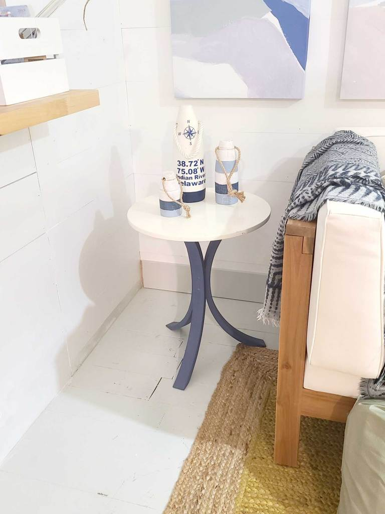 updated coastal inspired end tables