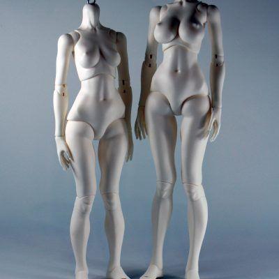 Short legs, short hip and C bust vs. long legs, short hip and D bust.