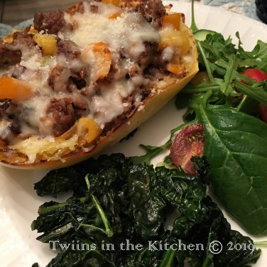 Spaghetti Squash Boats with Sausage & Fennel