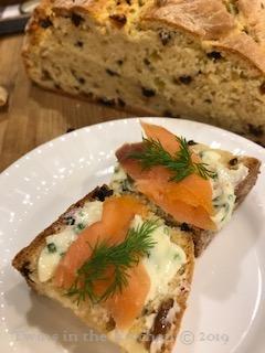 Salmon Chive Butter Dill Irish Soda Bread